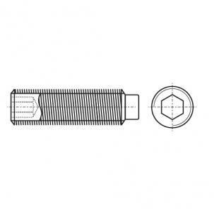 DIN 915 Винт установочный с внутренним шестигранником и цапфой стальная