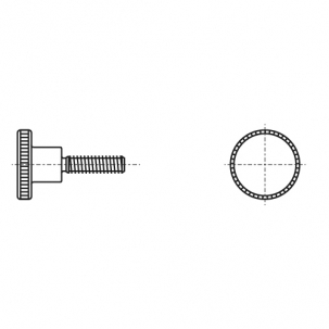 DIN 464 A1 Винт с накатанной головкой