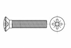 DIN 966 A4 Гвинт з напівпотайною головкою і хрестоподібним шліцом PH