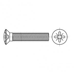 DIN 966 A4 Винт с полупотайной головкой и крестообразным шлицем PH
