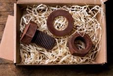 Шоколадний набір: болт, гайка, шайба